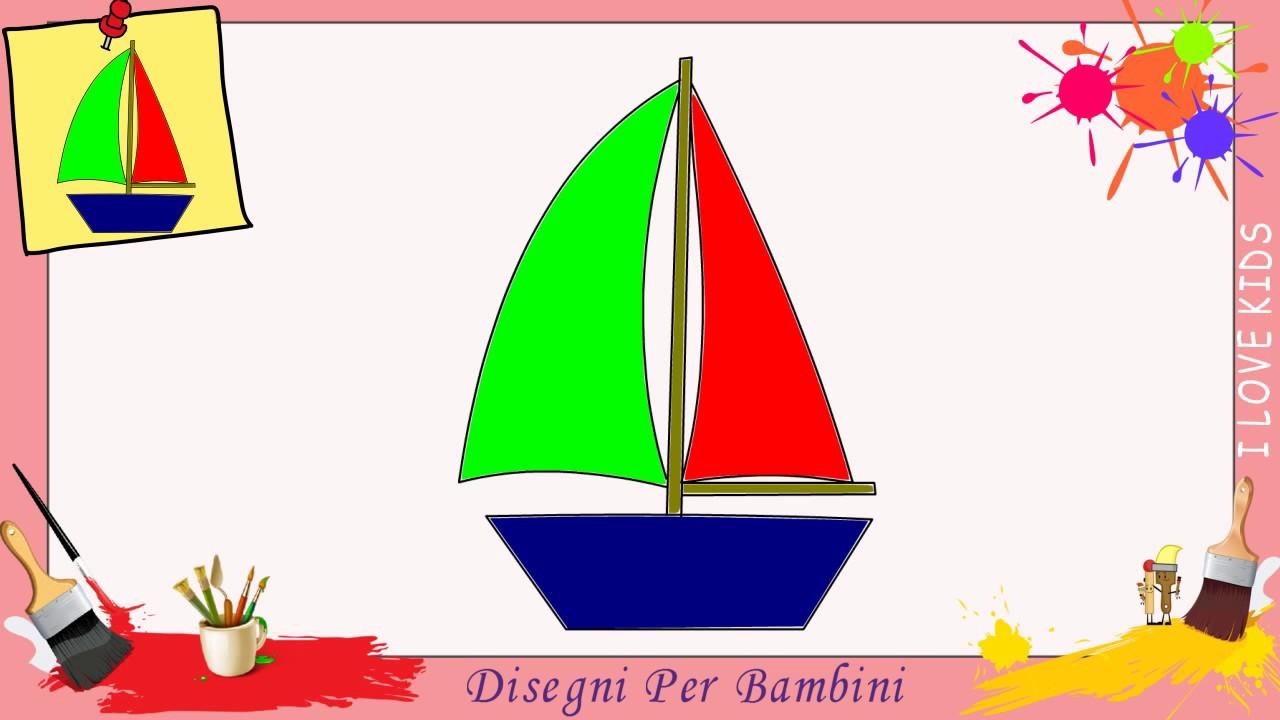Disegni di barca come disegnare una barca facile per for Disegni di squali per bambini