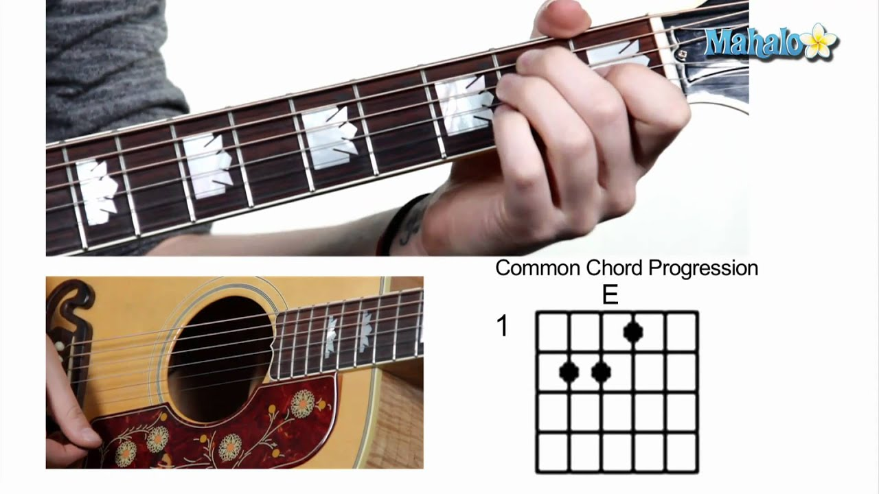 How To Play Common Chord Progression 1 4 5 On Guitar Youtube