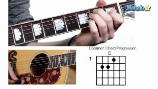 How to Play Common Chord Progression 1-4-5 on Guitar