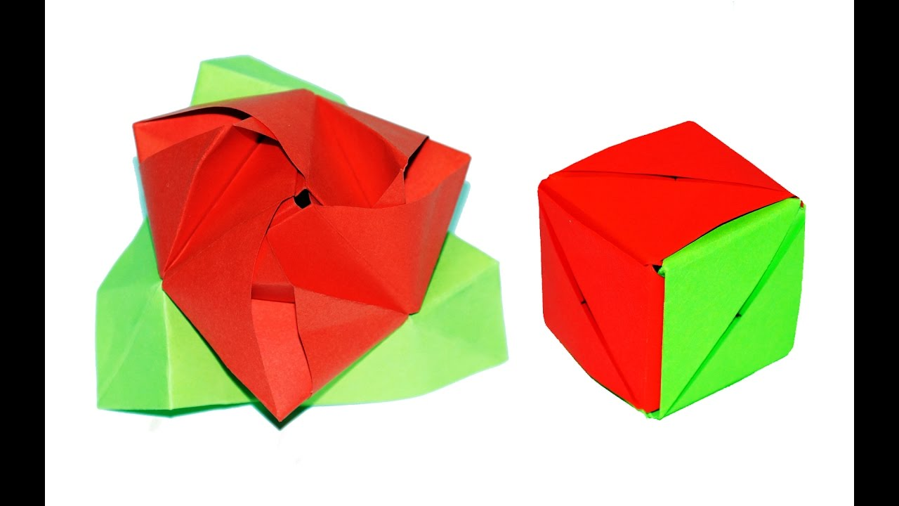 How to Fold a Magic Rose Cube—A Flower in a Box Origami Puzzle ... | 720x1280