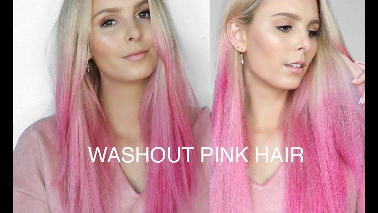DIY WASHOUT PINK HAIR using L OREAL COLORISTA SPRAY - YouTube 0a5bf48dbd