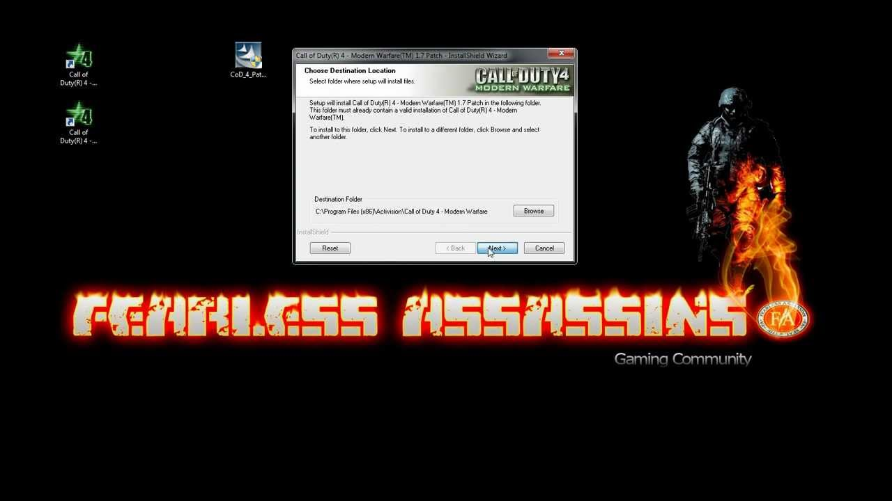 CoD4 : How to install patch v1 7 over v1 6 And Keep 1 6
