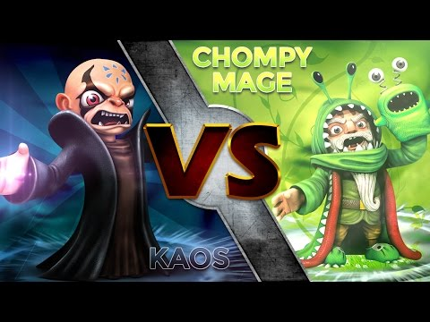 Skylanders Trap Team - Kaos Vs Chompy Mage