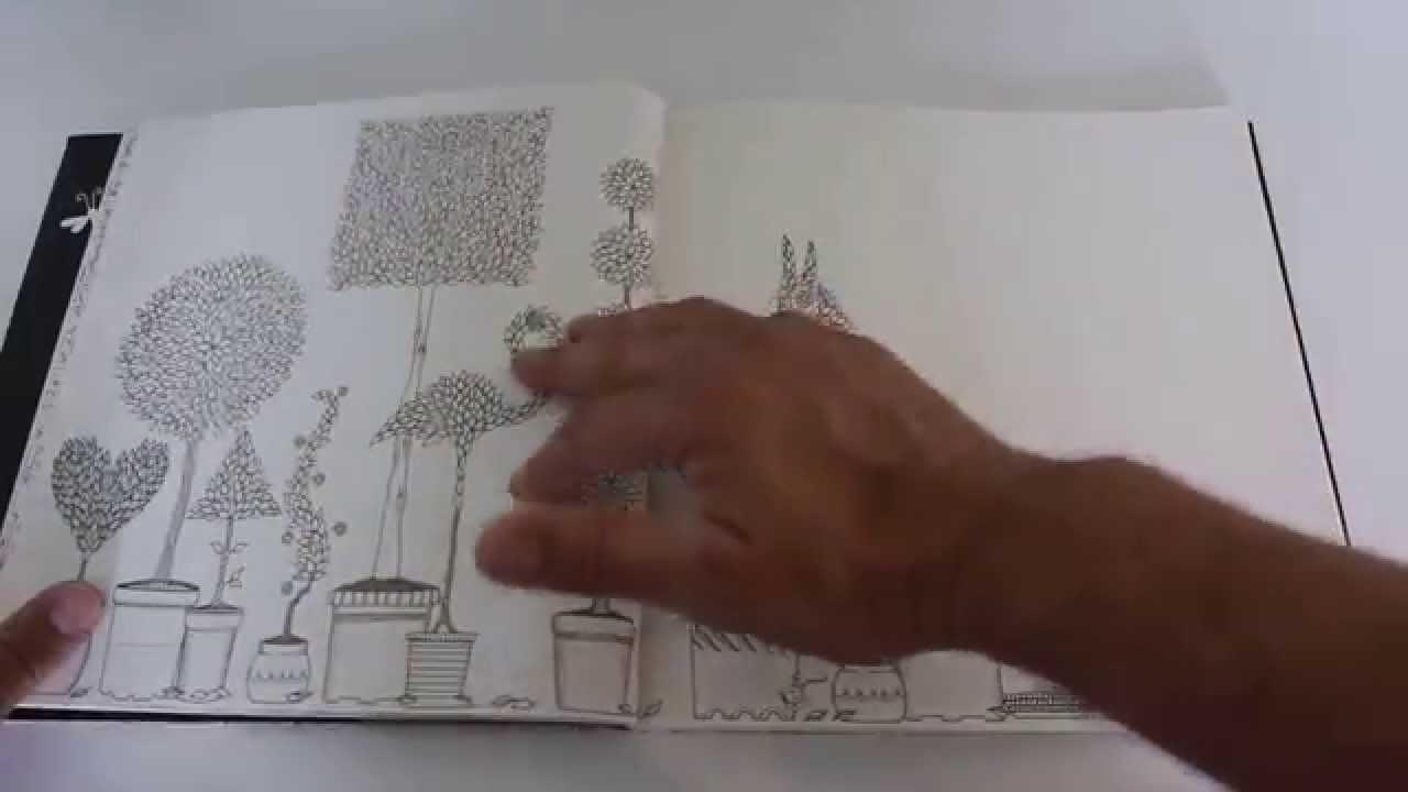 hemliga trädgården målarbok