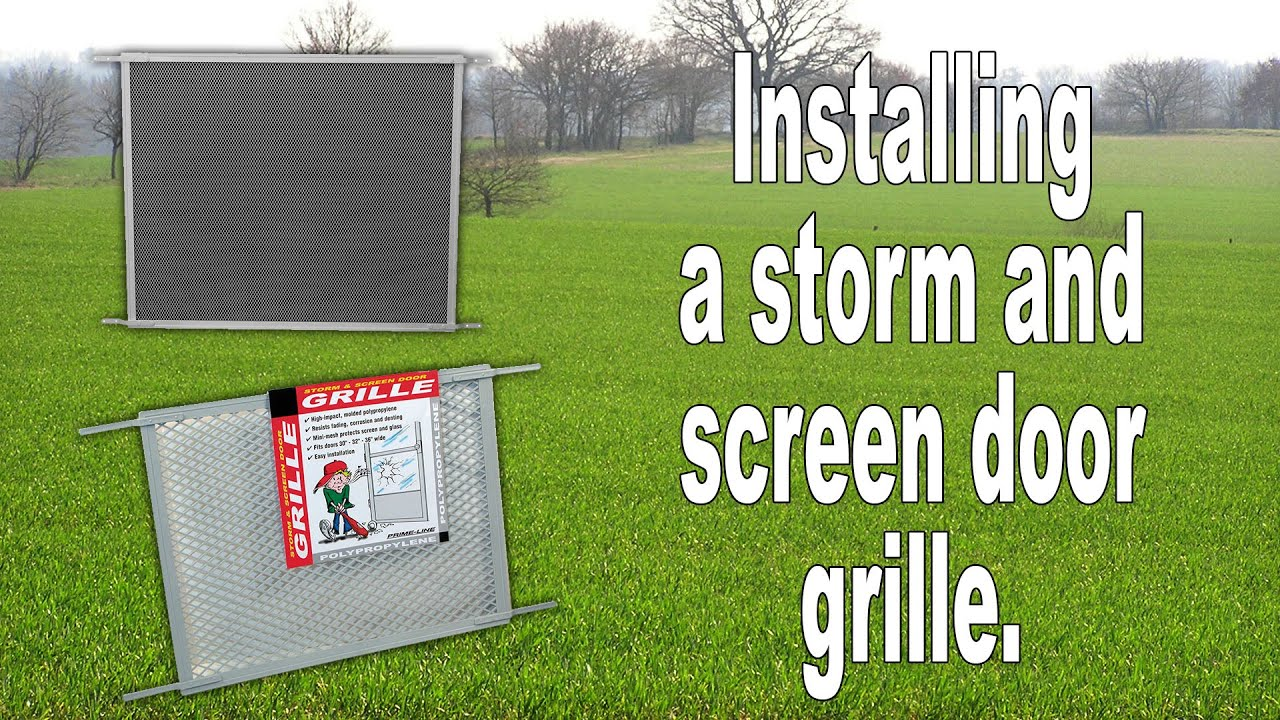 How To Install A Screen Door Pet Grille Youtube