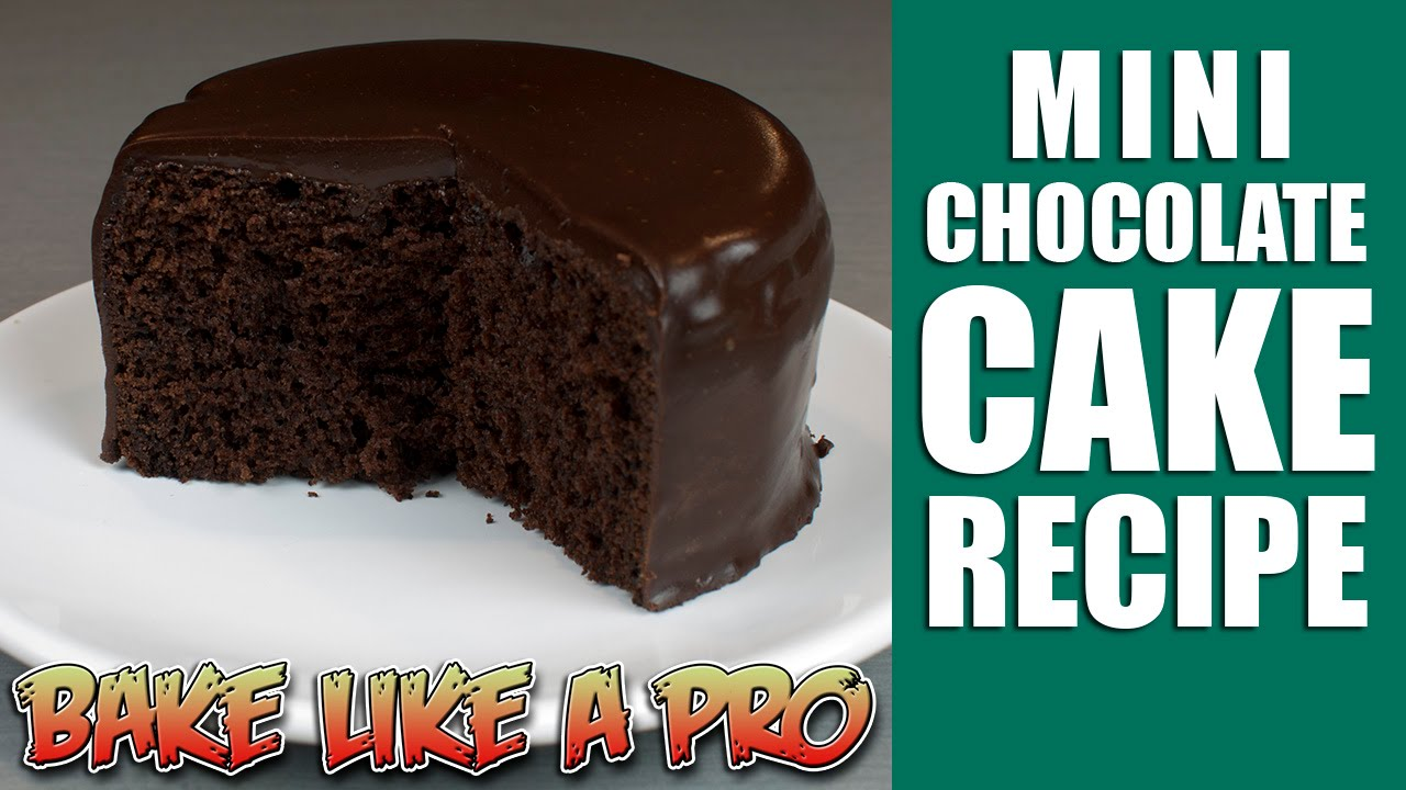 Easy Mini chocolate cake recipe YouTube