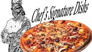 Classic supreme pizza.