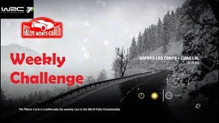 WRC 7-Rally Monte Carlo-Apres Les Corps-Chaillol-Weekly Challenge