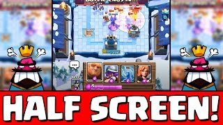 EPIC HALF SCREEN CHALLENGE! | Clash Royale Deutsch