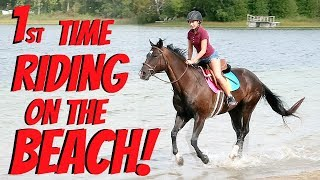 FIRST TIME RIDING OUR HORSES ON THE BEACH! Day 259 (09/19/18)