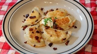 Cheater Pierogi - Potato & Cheese Dumplings With Bacon And Onions