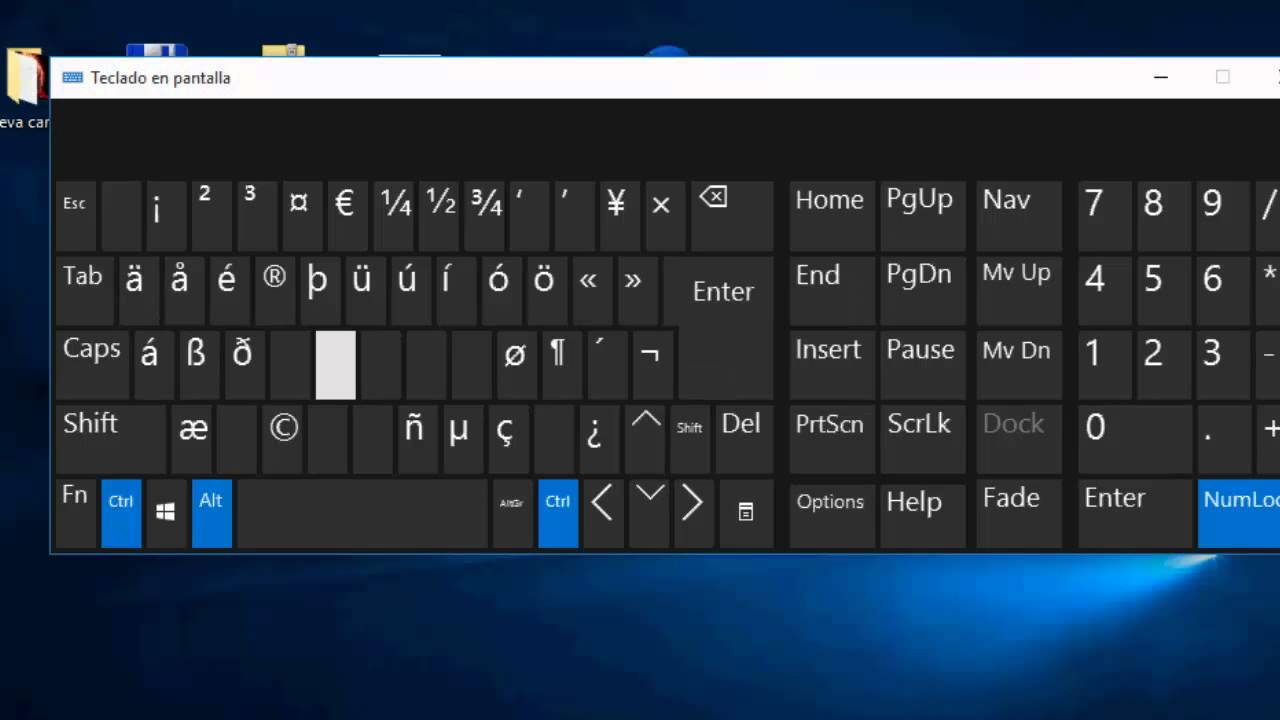 how to write the n in spanish on a laptop