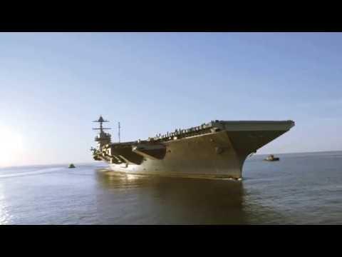 Future USS Gerald R. Ford Underway on Sea Trials