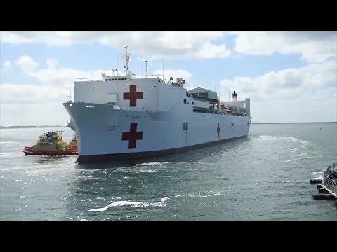 A sneak peek inside the world's largest hospital ship: USNS Mercy