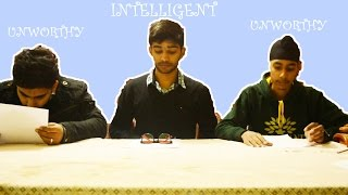 Intelligent vs Unworthy(nalayak) students during exams