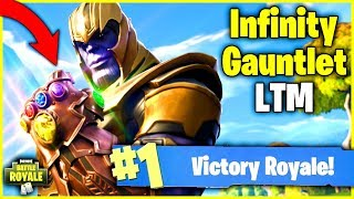LIVE INFINITY GAUNTLET WINNING GAMEPLAY - France Mode Temps Limité Thanos Skin - Fortnite Battle Royale