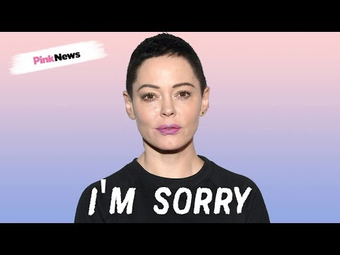 Rose McGowan's apologises to trans people