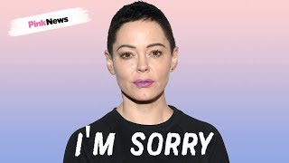 Rose McGowan apologises to trans people