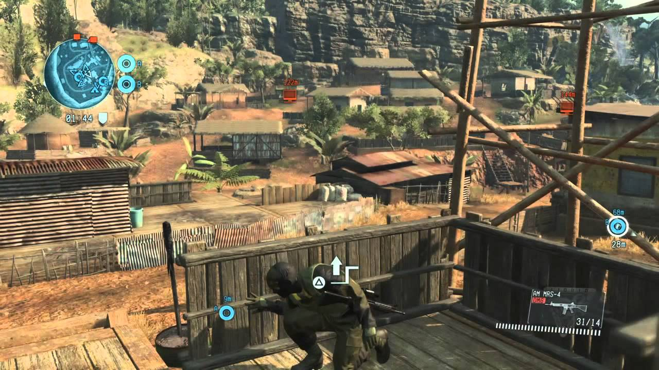 Metal Gear Online 3  Cloak and Dagger  Map Jade Forest  Day
