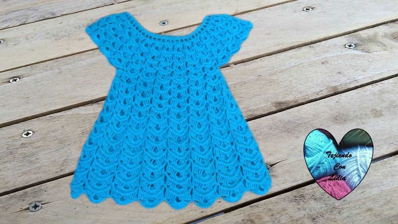 87463b2a66e0 Vestido tejido a crochet todas las tallas parte 1