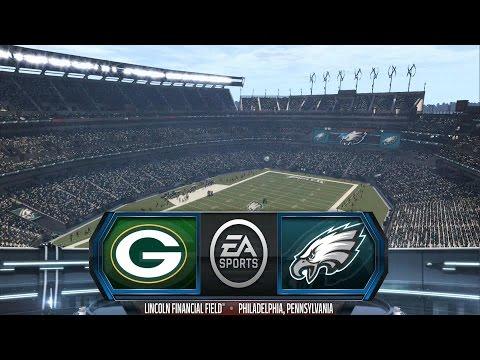 Madden NFL 16 - Green Bay Packers vs Philadelphia Eagles - Gameplay [ HD ]