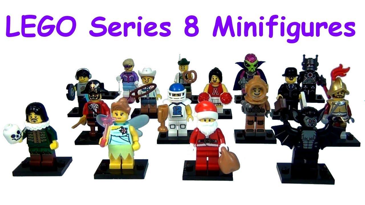 Lego 8833 Series 8 Minifigures No 3 Lederhosen Guy with a pretzel New