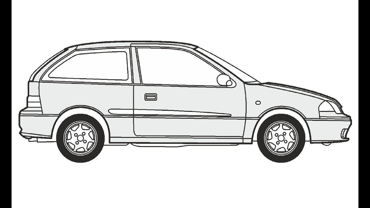 How to Draw a Suzuki Swift / Как нарисовать Suzuki Swift