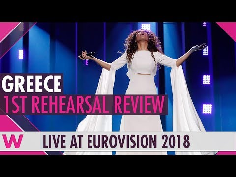 "Greece First Rehearsal: Yianna Terzi ""Oniro Mou""  @ Eurovision 2018 (Review) | wiwibloggs"