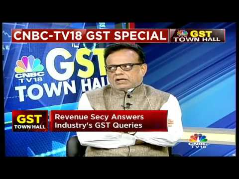 GST Townhall With Revenue Secy Hasmukh Adhia- Part 1