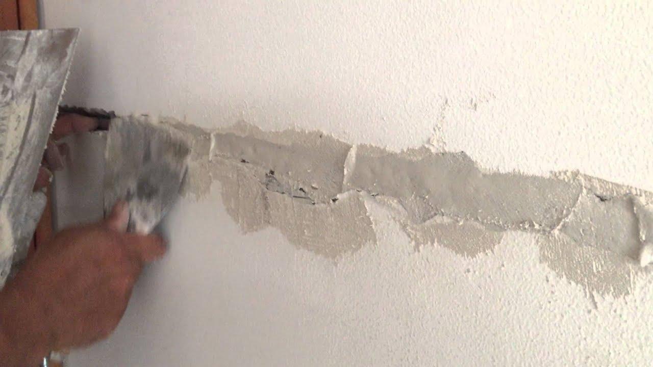 Resanes con estuco relleno youtube for Grietas en paredes interiores