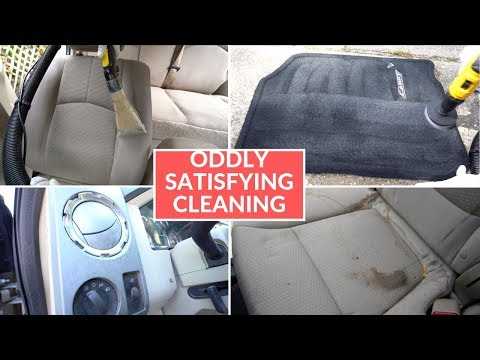 Oddly Satisfying Interior Car Cleaning Compilation