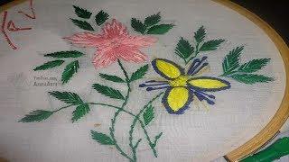 Hand Embroidery Flower Design Stich  By Amma Arts