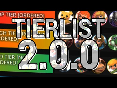 My Smash Bros. Ultimate 2.0.0 Tierlist thumbnail