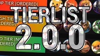 My Smash Bros. Ultimate 2.0.0 Tierlist