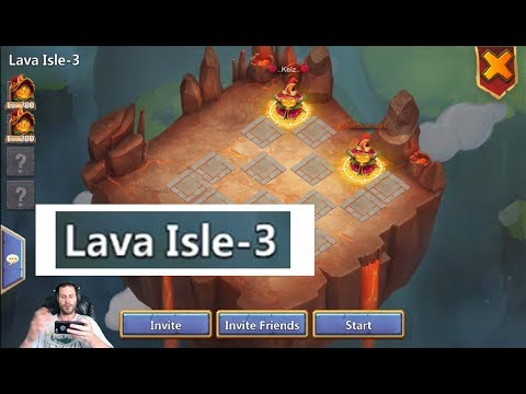 TWO Man Lava Isle 3 SERIOUSLY!! Must Watch Castle Clash