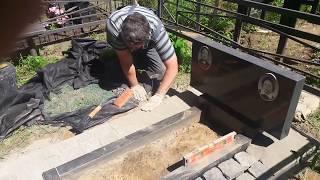 видео Правильно уложить тротуарную плитку на могиле. Как правильно уложить. KakPravilno-Sdelat.ru