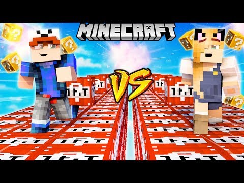 SZALONY WYŚCIG! - WYBUCHOWE TNT LUCKY BLOCKI MINECRAFT! (Lucky Block Race) | Vito vs Bella thumbnail