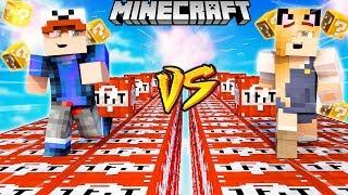 SZALONY WYŚCIG! - WYBUCHOWE TNT LUCKY BLOCKI MINECRAFT! (Lucky Block Race) | Vito vs Bella