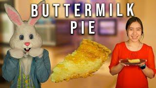 Creepy Bunny Helps Me Bake Buttermilk Pie!