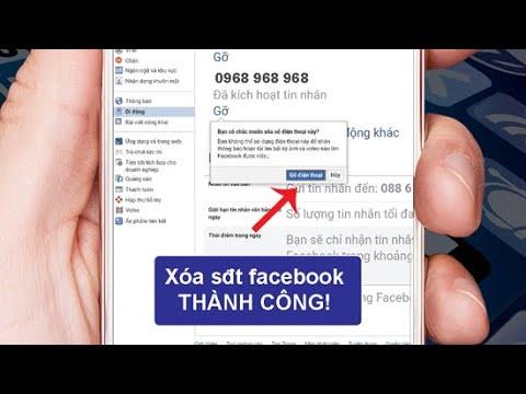 Cách gỡ số điện thoại Facebook thành công bằng điện thoại