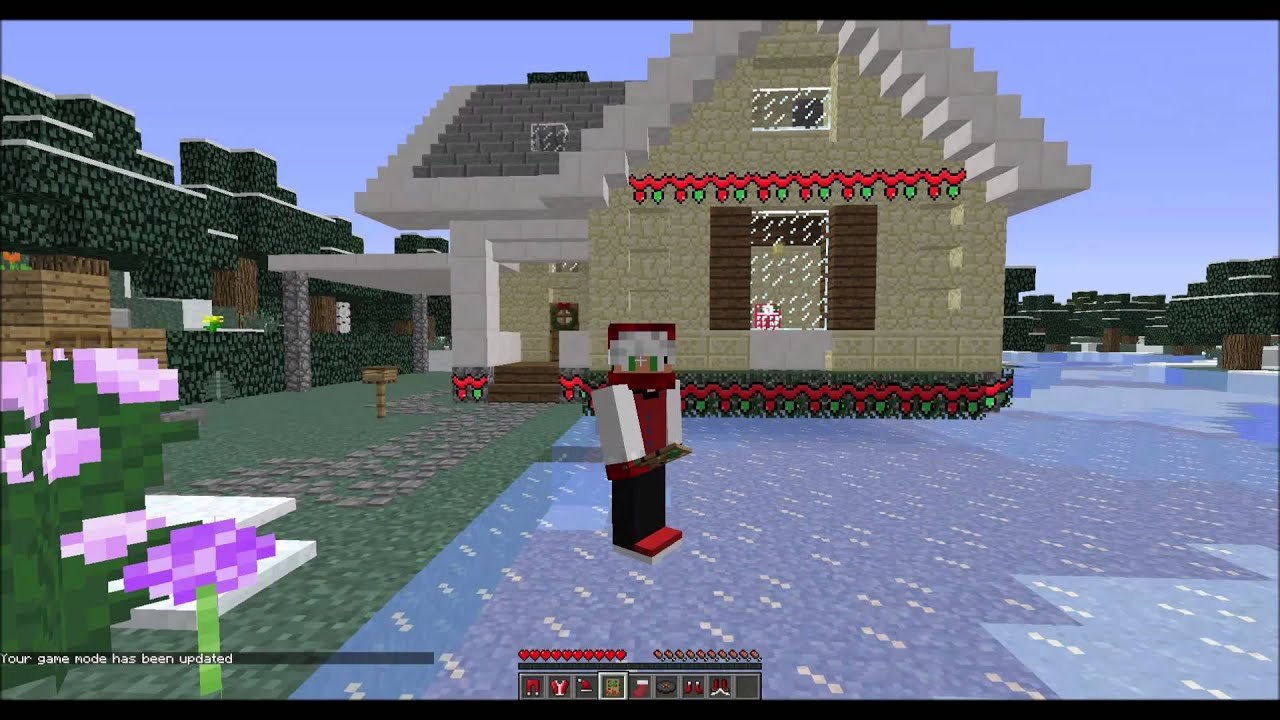 Minecraft Christmas decorations!! - YouTube
