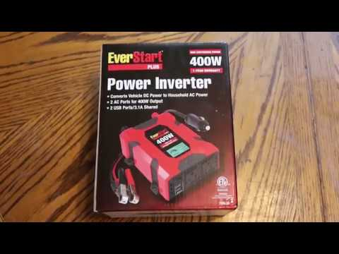 Unboxing and Review of 400W EverStart Plus Power Inverter From Walmart