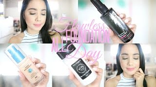 HOW TO MAKE YOUR FOUNDATION LOOK FLAWLESS AND LAST ALL DAY | BECKYMORFIN