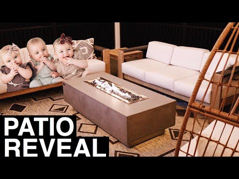 Triplets and Toddler enjoy new Patio! | Outdoor Patio Reveal