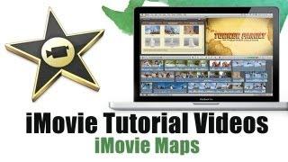How to use iMovie Map Feature - iMovie Tutorial Videos