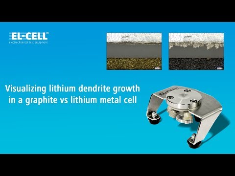 Visualizing lithium dendrite growth in a graphite vs lithium metal cell