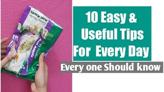 10#Useful Daily life Tips you should know#10 smart life hacks for Every day#10 life hacks for home