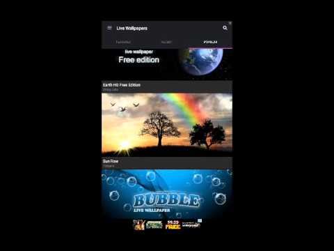 Zedge app review/demo (change wallpapers and ringtones everyday)