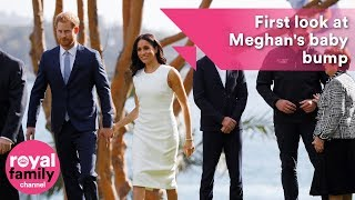 First look at Meghan's baby bump