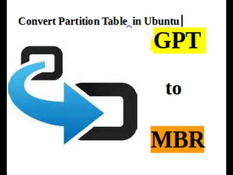 convert partition table gpt to mbr ubuntu